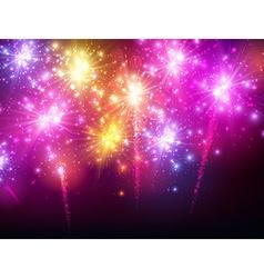 Festive color firework background vector