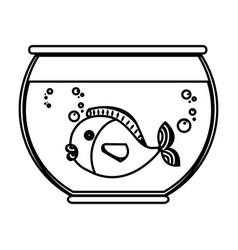 fish in aquarium pet vector image