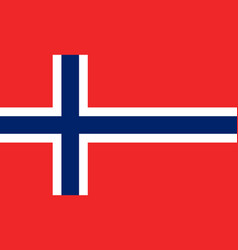 flag of norway national symbol of the state vector image