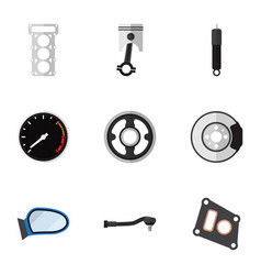 flat icon parts set of input technology belt vector image