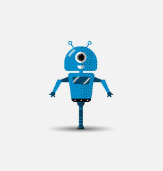 funny robot icon in flat style isolated on vector image