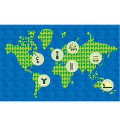 Geography poster vector