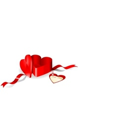 gift box in a shape of heart vector image