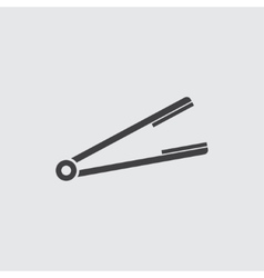 Hair straightener icon vector
