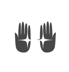 Hand palm logo vector image