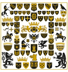 heraldry crests and symbols vector image