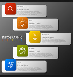 infographic elements in modern fashion with 5 step vector image