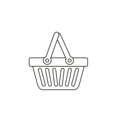 Isolated shopping basket design vector
