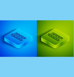 Isometric line mahjong pieces icon isolated vector