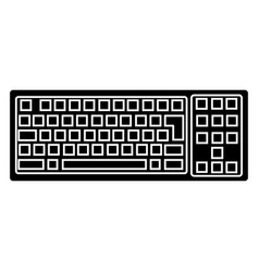 keyboard detailed icon black vector image