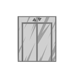 Lift icon black monochrome style vector image