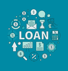 Loan circular colorful vector