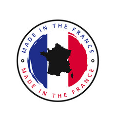 made in france round label vector image