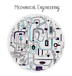 Mechanical engineering abstract background for the vector image