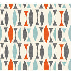 Mid century modern pattern geometric shapes vector