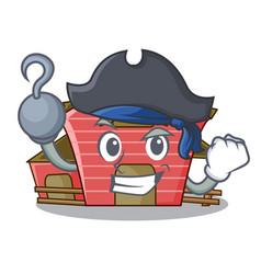 Pirate character red barn building with haystack vector