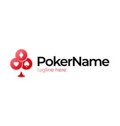 poker card symbol game logo casino logo design vector image