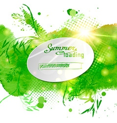 Postcard with the words Summer loaded on green vector image