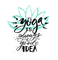 poster yoga studio and meditation class logo vector image