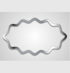 quote blank speech bubble abstract metal design vector image