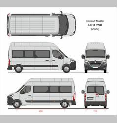 Renault master passenger van l3h3 fwd 2020 vector