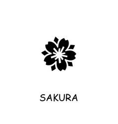 Sakura flat icon vector