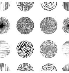 seamless pattern graphic doodle black and vector image