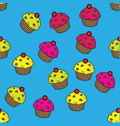 Seamless pattern with cute in pastel colors vector