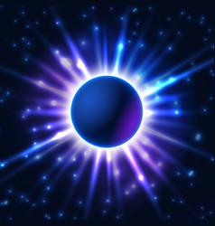 Shiny technological sphere vector