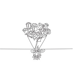 single continuous line drawing beautiful fresh vector image