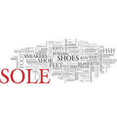 Sole word cloud concept vector
