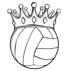 sport volleyball ball drawing vector image