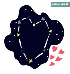 Starry heart vector