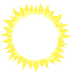 sun icon sunny bright circle shape with rays vector image
