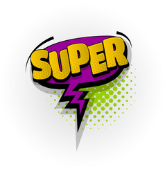 Super wow comic book text pop art vector
