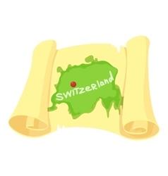 Switzerland map icon cartoon style vector image