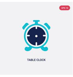 Two color table clock icon from furniture concept vector