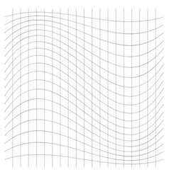 Wavy waving thin lines camber crook squeeze vector