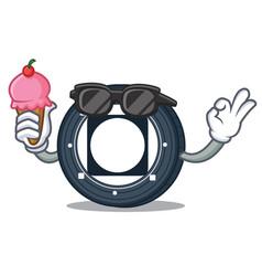 With ice cream byteball bytes coin character vector