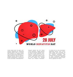 World hepatitis day 28 july vector
