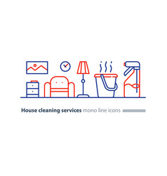 clean house maintenance services refresh interior vector image
