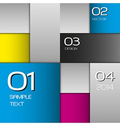 CMYK Squares vector image