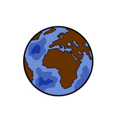 color sketch earth vector image