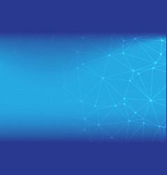futuristic shapefloating white and blue dot vector image