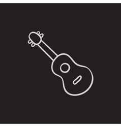 Guitar sketch icon vector image vector image