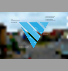 infographic template with triangle askew divided vector image vector image