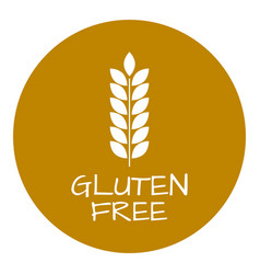 gluten free label food intolerance symbols vector image vector image