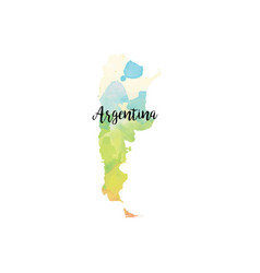 abstract argentina map vector image