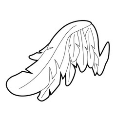 angel wing icon outline style vector image