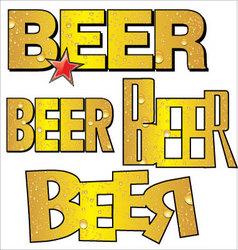 beer text vector image vector image